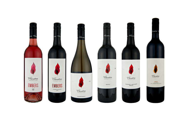 Family tree range of wines